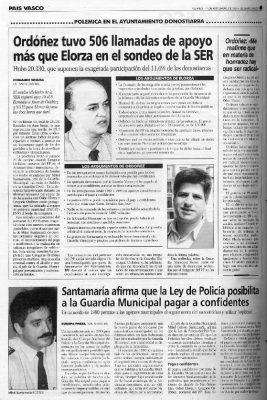 Ordóñez supera en apoyos al alcalde en un debate de la Cadena Ser