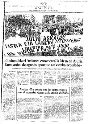 Manifestación multitudinaria por la libertad de Julio Iglesias Zamora