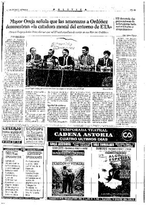 El PP cierra filas con Ordóñez tras las amenazas de ETA