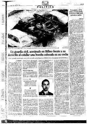 """Un nuevo """"asesinato rastrero de ETA"""""""