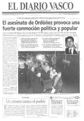 Conmoción política y ciudadana por el asesinato de Ordóñez