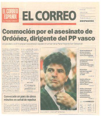 Un pistolero asesina a Gregorio Ordóñez