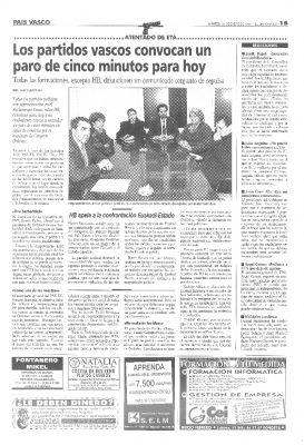 Herri Batasuna no condena el asesinato de Ordóñez
