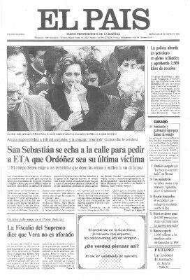 Miles de donostiarras despiden a Gregorio Ordóñez