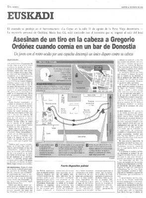 Un tiro en la cabeza para acallar a Gregorio Ordóñez