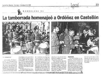 Tamborrada en Castellón para recordar a Ordóñez
