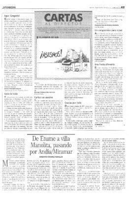 El último artículo con la firma de Gregorio Ordóñez