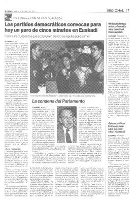 Todos condenan el asesinato de Ordóñez, excepto Herri Batasuna