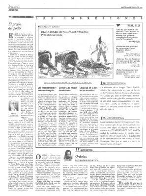 """""""Ordóñez"""", un recuerdo en euskera al político asesinado"""