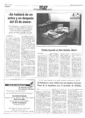 """Morir"", la última lectura de Ordóñez"