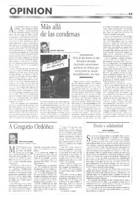 """Aznar se despide de Ordóñez: """"Eras todo lucha"""""""