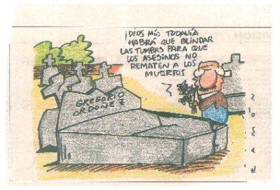 Rematar a los muertos: profanan la tumba de Gregorio Ordóñez