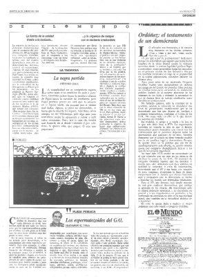 El testamento democrático de Ordóñez