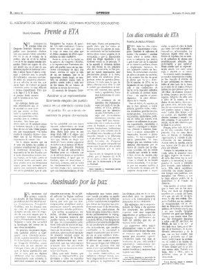 Tres socialistas escriben sobre el asesinato de Ordóñez