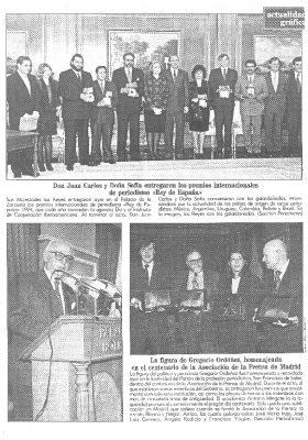 Los periodistas homenajean a Gregorio Ordóñez