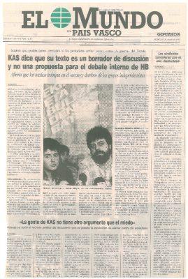 KAS sugiere que podría haber atentados contra periodistas tras el asesinato de Ordóñez