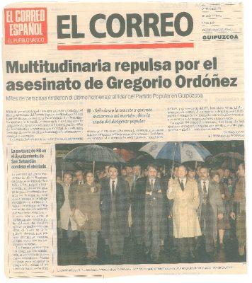 Una repulsa multitudinaria y silenciosa al asesinato de Ordóñez