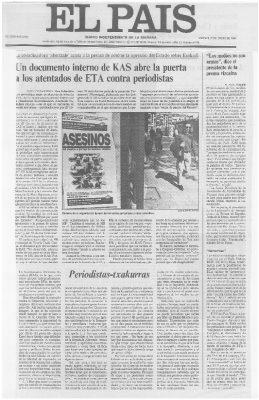 KAS amaga con atentar contra periodistas la semana del asesinato de Ordóñez