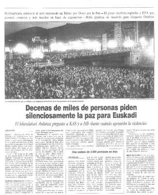 Gesto por la Paz reúne a miles de personas en Bilbao