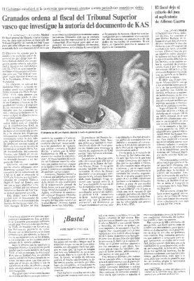 """""""¡Basta!"""", la crítica desgarrada de un periodista frente a ETA"""