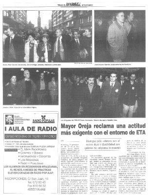 Mayor Oreja pide mantener la firmeza de Gregorio Ordóñez con el entorno de ETA