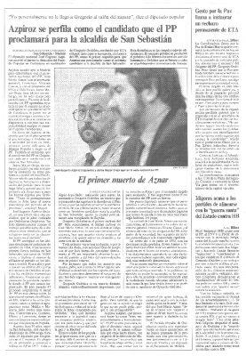 Azpiroz se perfila como sucesor de Gregorio Ordóñez