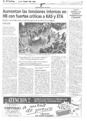 El asesinato de Ordóñez provoca críticas internas en HB