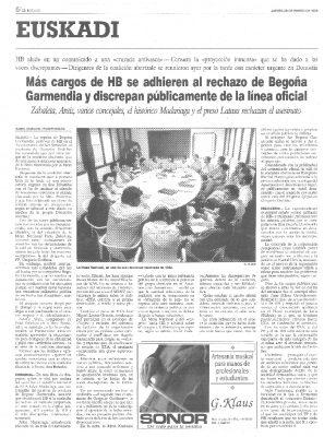 El asesinato de Ordóñez abre grietas en HB