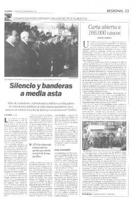 Concentraciones en toda España en memoria de Ordóñez