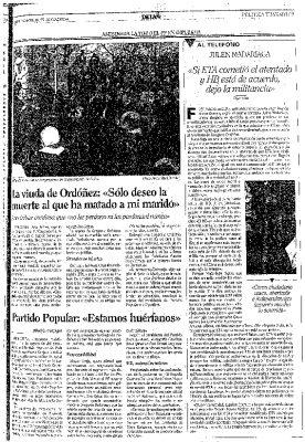 """Julen Madariaga, fundador de ETA, amenaza con dejar """"la militancia"""" tras el asesinato de Ordóñez"""