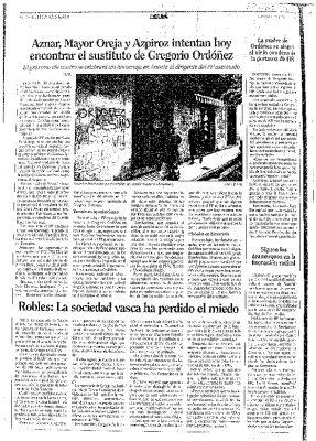 """El PP busca sustituto a Ordóñez mientras aparecen pintadas acusándolo de """"asesino"""""""