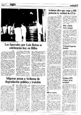 """Ordóñez tacha a ETA y a sus seguidores de """"cáncer de nuestra sociedad"""""""