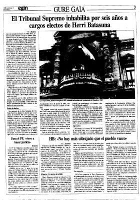 Ordóñez respalda la inhabilitación de seis cargos de HB