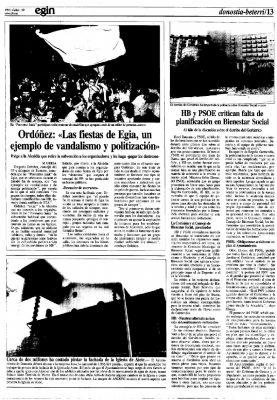 """Las fiestas del barrio de Egia, un ejemplo de """"amarga politización"""""""