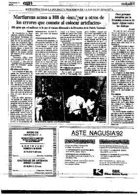 """Ordóñez: """"Los alevines de ETA quieren reventar las fiestas"""""""
