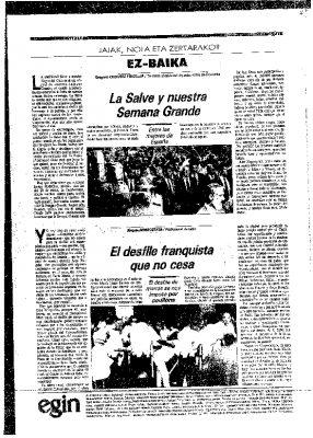 Ordóñez defiende La Salve donostiarra en un artículo en Egin