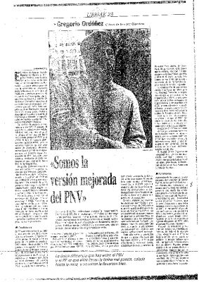 "Ordóñez, a Egin: ""Si ETA no existiera, yo no estaría en política"""