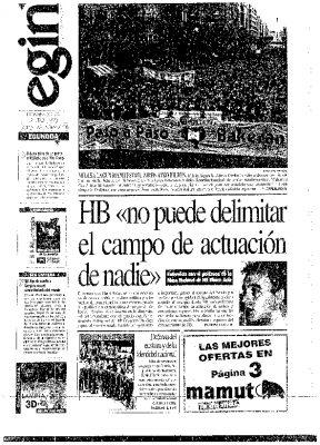 HB califica el asesinato de Ordóñez como un profundo e importante golpe al aparato del Estado