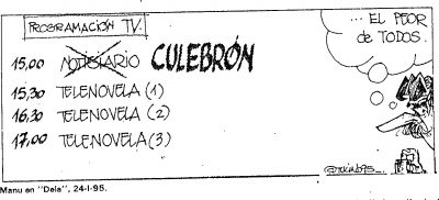 Egin reproduce una viñeta de Deia criticando el tratamiento informativo el día después del asesinato de Ordóñez