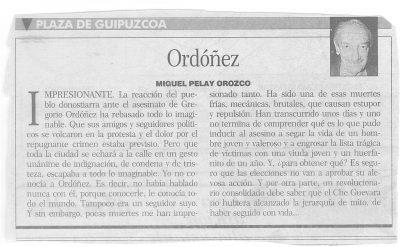 La impresionante respuesta ciudadana al asesinato de Ordóñez