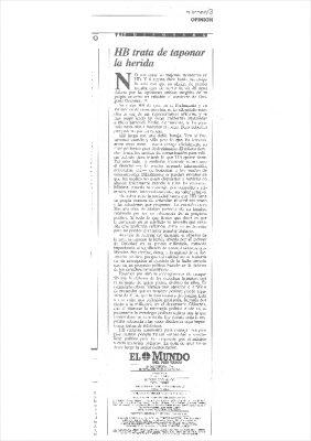 La herida abierta en HB tras el asesinato de Ordóñez