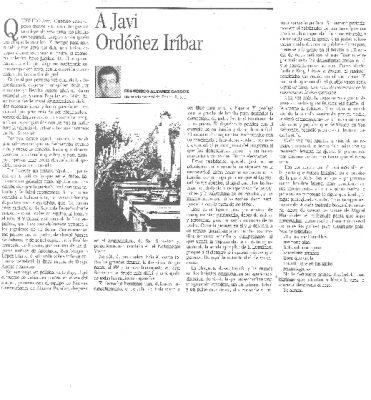 Carta de Álvarez Cascos al hijo de Gregorio Ordóñez