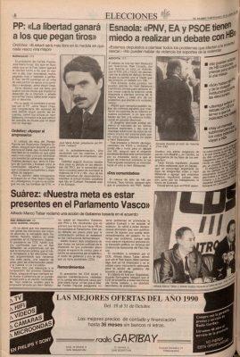 "Ordóñez apela al voto para lograr ""una Euskadi sin bombas"""