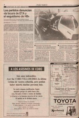 Ordóñez pide firmeza al Gobierno tras el asesinato de la joven Coro Villamudria