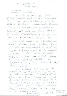 Borrador de una carta al director de Diario Vasco