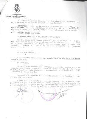 Pobra do Caramiñal condena el asesinato de Gregorio Ordóñez