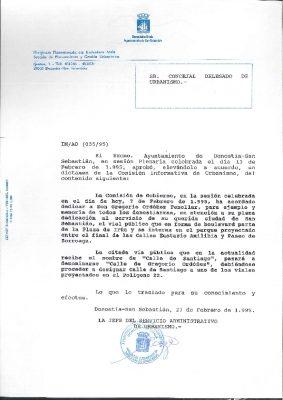 El Ayuntamiento de San Sebastián concede una calle a Gregorio Ordóñez