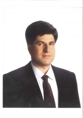 Imagen oficial de Gregorio Ordóñez como parlamentario vasco
