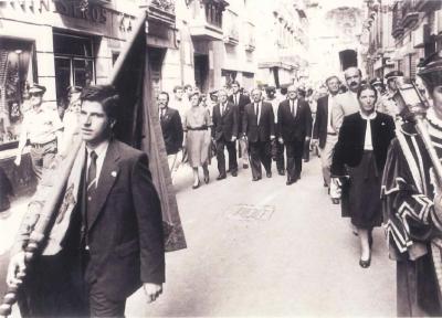 Ordóñez, concejal más joven, abre la procesión de La Salve