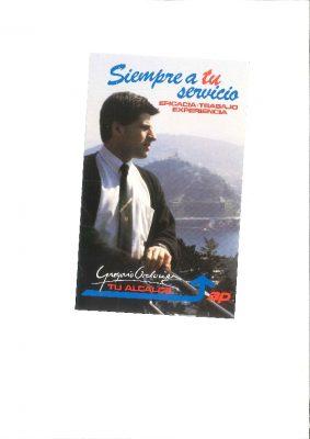 Papeleta electoral de las municipales de 1987